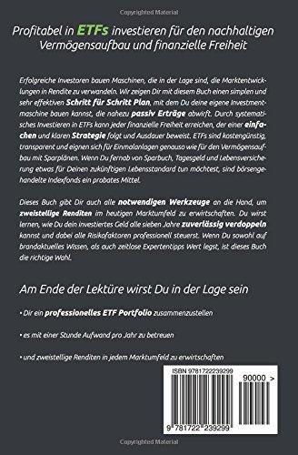 ETFs – Der einfache Weg zum Reichtum: Schritt für Schritt Investieren für den nachhaltigen Vermögensaufbau und finanzielle Freiheit (inkl. Sparplan und Beispiel Portfolios!)